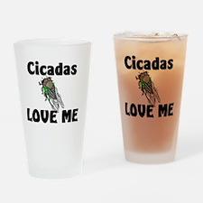 Cicadas58332 Drinking Glass