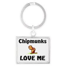 Chipmunks37333 Landscape Keychain