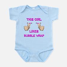 This Girl Likes Bubble Wrap Infant Bodysuit