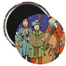 Vintage Christmas Carolers Magnet