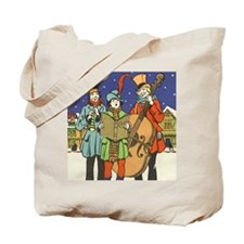 Vintage Christmas Carolers Tote Bag