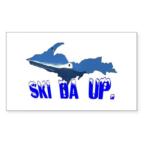 Ski Da UP Rectangle Sticker