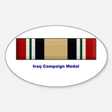 Iraq Campaign Medal Oval Decal