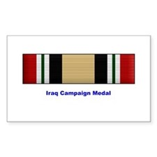 Iraq Campaign Medal Rectangle Decal