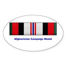 Afghanistan Campaign Medal Oval Decal