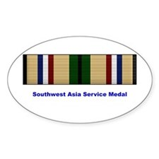 Southwest Asia Service Medal Oval Decal