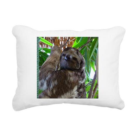 sloth1b.jpg Rectangular Canvas Pillow