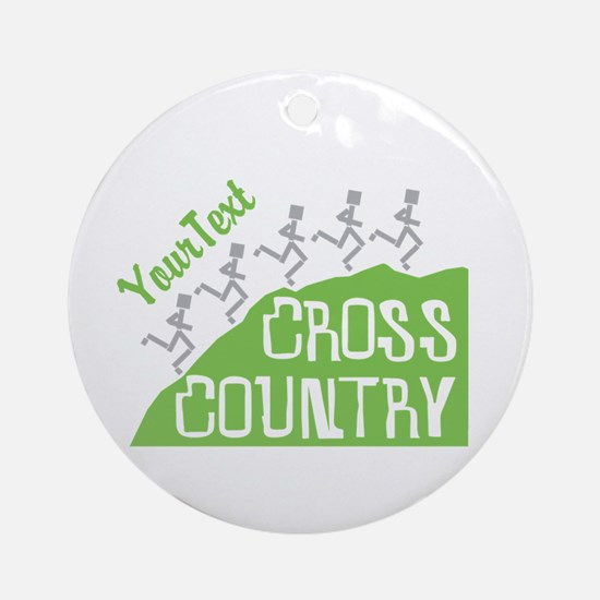 Customize Cross Country Runners Round Ornament