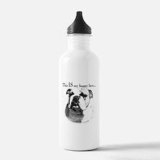 Bulldog Happy Face Water Bottle