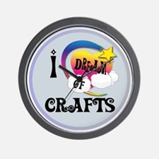 I Dream of Crafts Wall Clock