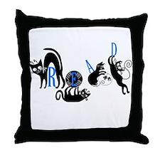 Cats Read Throw Pillow