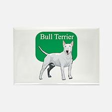 Bull Terrier Title Rectangle Magnet