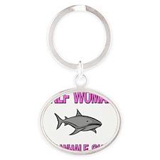 WHALE-SHARK11716 Oval Keychain