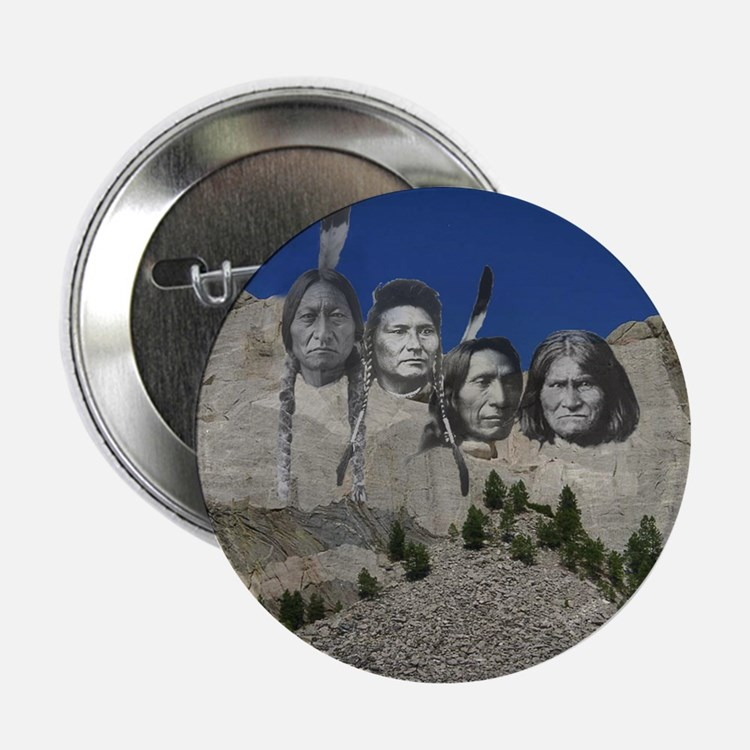 "Native Mt. Rushmore 2.25"" Button (10 pack)"