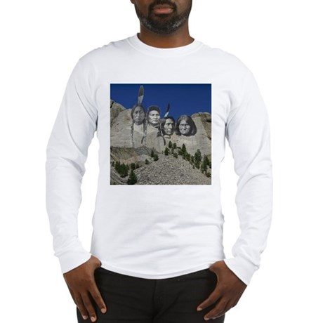Native Mt. Rushmore Long Sleeve T-Shirt