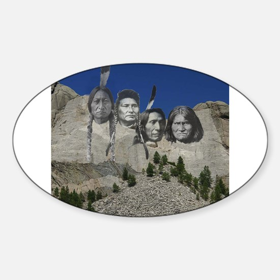 Native Mt. Rushmore Oval Decal