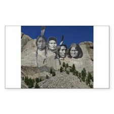 Native Mt. Rushmore Rectangle Decal