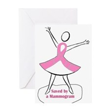 Saved by a Mammogram Greeting Card