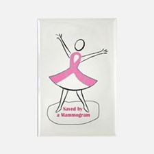 Saved by a Mammogram Rectangle Magnet (10 pack)