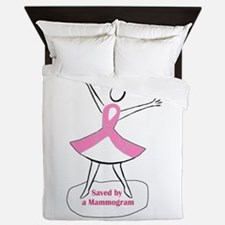Saved by a Mammogram Queen Duvet