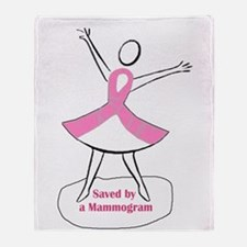 Saved by a Mammogram Throw Blanket