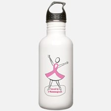 Saved by a Mammogram Water Bottle