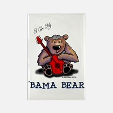 Luv My 'BAMA BEAR Rectangle Magnet