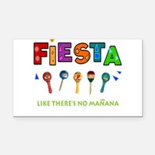 Spanish Party Rectangle Car Magnet