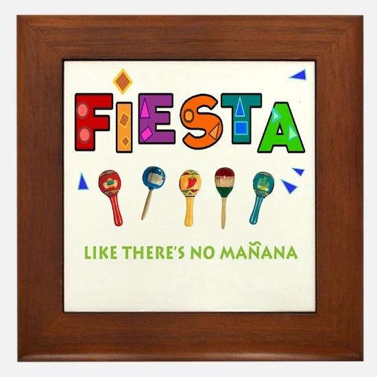 Spanish Party Framed Tile