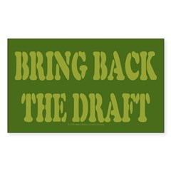 Bring Back Draft Rectangle Decal