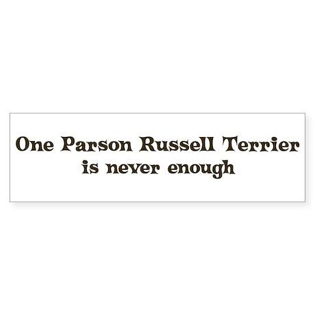 One Parson Russell Terrier Bumper Sticker