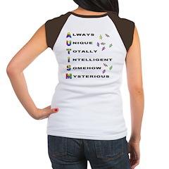 AUTISM (BackDesign) Women's Cap Sleeve T-Shirt