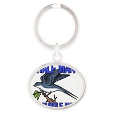 PURPLE-MARTIN6109 Oval Keychain