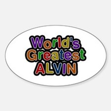 World's Greatest Alvin Oval Decal