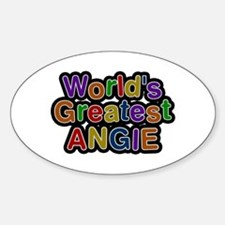 World's Greatest Angie Oval Decal