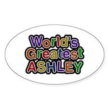 World's Greatest Ashley Oval Decal