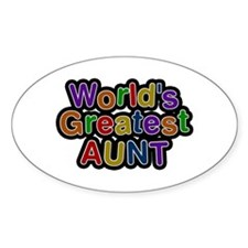 World's Greatest Aunt Oval Decal