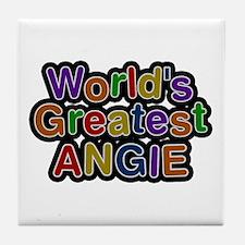 World's Greatest Angie Tile Coaster