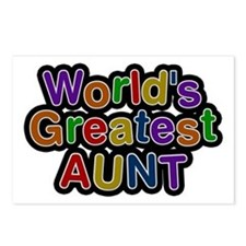 World's Greatest Aunt Postcards 8 Pack