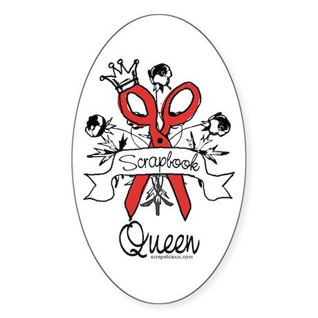 Scrapbook Queen V2 Oval Sticker