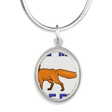 FOX24267 Silver Oval Necklace