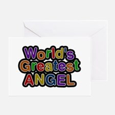 World's Greatest Angel Greeting Card