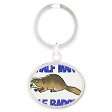 BADGER82391 Oval Keychain