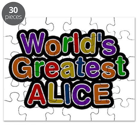 World's Greatest Alice Puzzle