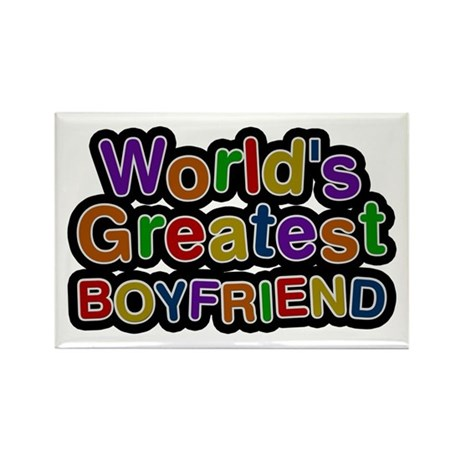 World's Greatest Boyfriend Rectangle Magnet