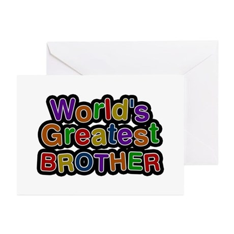 World's Greatest Brother Greeting Card 10 Pack