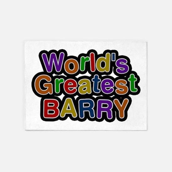 World's Greatest Barry 5'x7' Area Rug