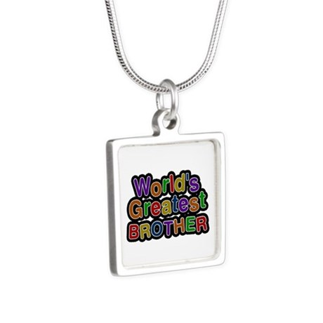 World's Greatest Brother Silver Square Necklace
