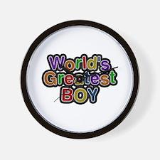 World's Greatest Boy Wall Clock
