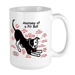 Pitbull Anatomy Large Mug